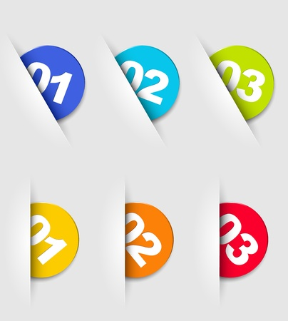 numbers clipart: One two three - progress icons for three steps