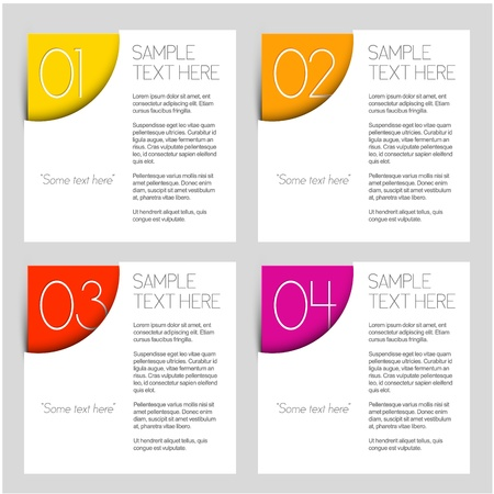 page layout design: Paper Progress background  product choice or versions Illustration
