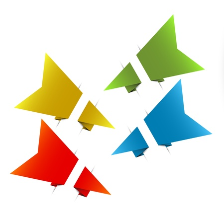 Paper origami arrows / bookmark (template) Stock Vector - 13523303