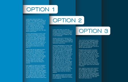 Vector blue Paper options background  product choice or versions Vector