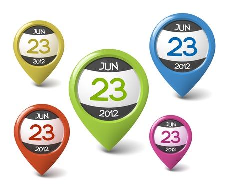 meses del a�o: Vector icono de la fecha de tu web o blog Vectores