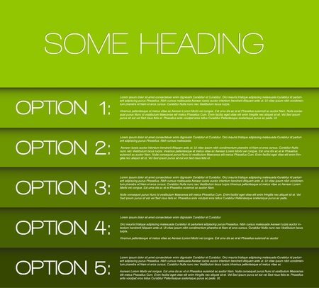 Vector Papier opties achtergrond / product keuze of versies Vector Illustratie