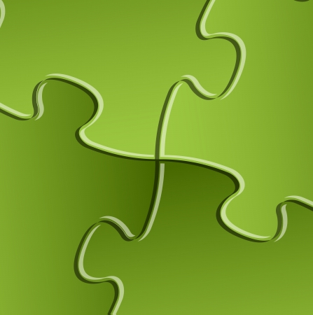 problem solving: Abstract vector green puzzle  solution background detail Illustration