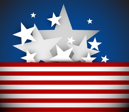 american content: Vector independence day background with red stripes and white stars