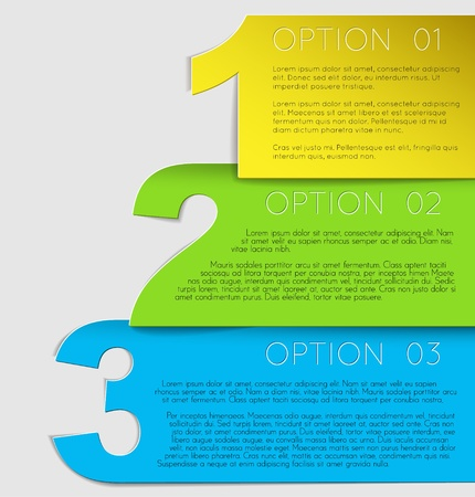 versions: Paper Progress background  product choice or versions Illustration