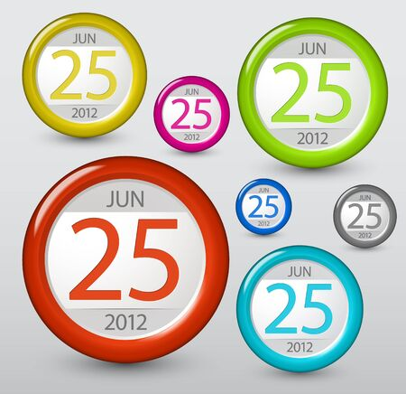 Date icon for your web or blog Vector