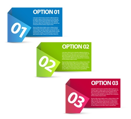 web 2: Paper Progress background  product choice or versions Illustration