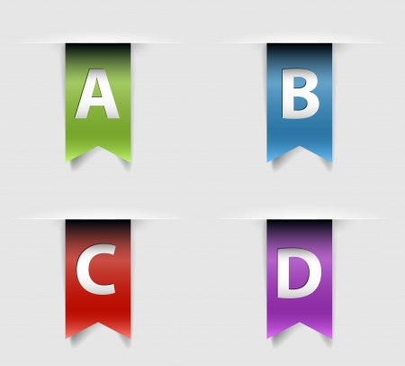Collection of four retro ribbons pressenting various options Vector