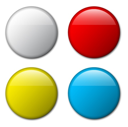 plain button: blank badge template illustration - four colors