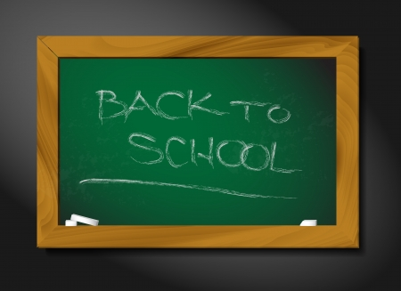 school blackboard illustration on black background Stock Vector - 13833681