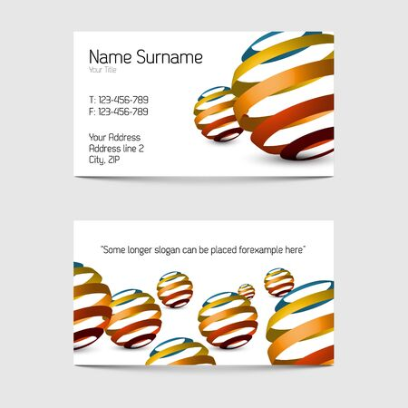 Set of modern business card templates - front and back side Stock Vector - 13856076