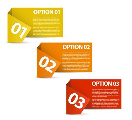 three orange: Paper Progress background  product choice or versions Illustration
