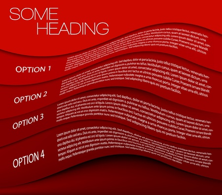 Paper options background  product choice or versions