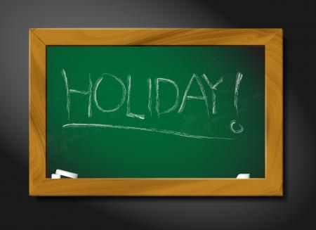 school blackboard illustration on black background - holiday Vector