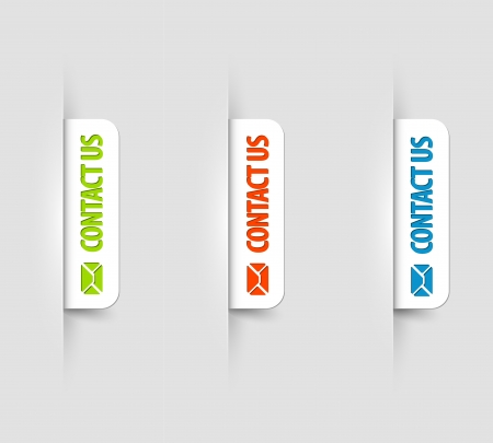 white and color contact us Labels  Tags on the (web) page Vector