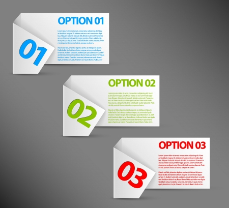 versions: white Paper Progress background  product choice or versions Illustration