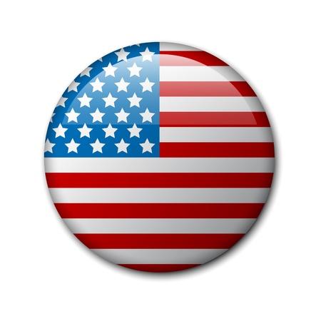 bandera estados unidos: insignia con la bandera americana (placa Día de la Independencia)