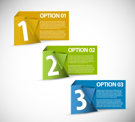 paper Progress cards  product choice or versions Vector