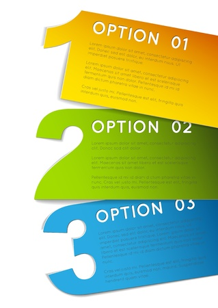 brochure layout: Paper Progress background  product choice or versions Illustration