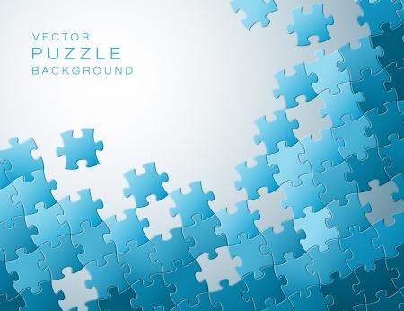 Abstracte achtergrond van blauwe puzzelstukjes en plaats voor uw inhoud Vector Illustratie