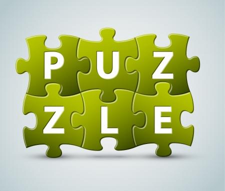 rompecabezas de las letras - a partir de piezas de un rompecabezas Ilustración de vector