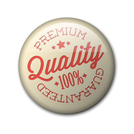 guaranty: retro premium quality red detailed badge