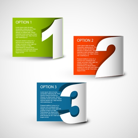 option: Paper Progress background  product choice or versions Illustration