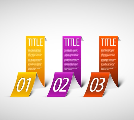 White Paper Progress background  product choice or versions Vector