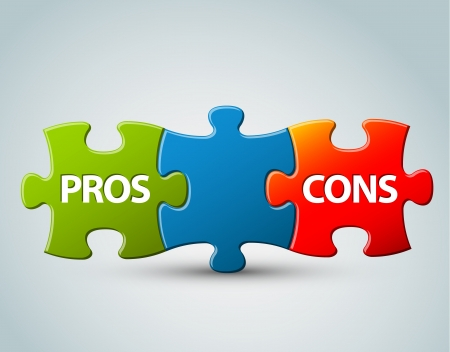 Pros and cons compare  model - advantages and disadvantages Vector