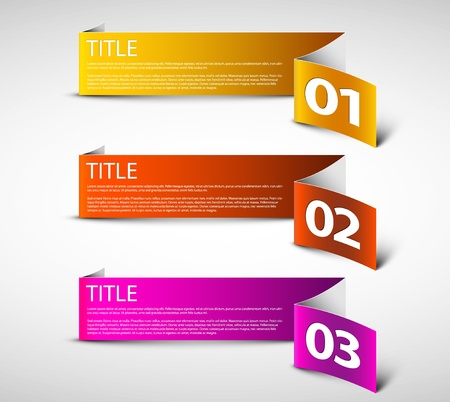 web 2: white Paper Progress background  product choice or versions Illustration