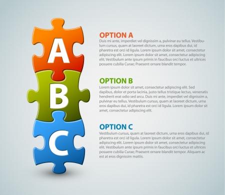the next step: Icone progresso ABC per tre gradini