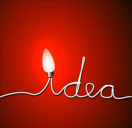 idea concept illustration with light bulb Vector