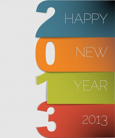 new year's: Original Vector New Year 2013 card  illustration with place for your text