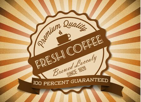 Vector grunge retro vintage background with coffee label and place for your text Stock Vector - 14776684