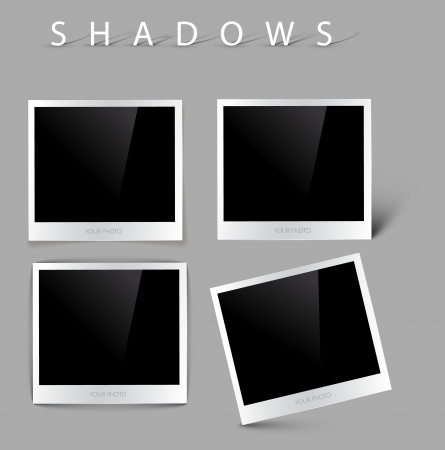 content page: Collection of vector photos with realistic shadow effects Illustration