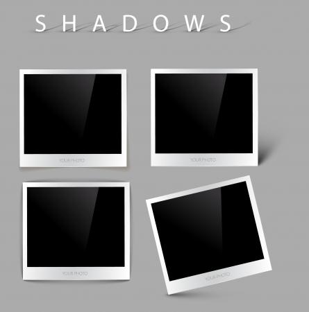 Raccolta di foto di vettore con effetti ombra realistici