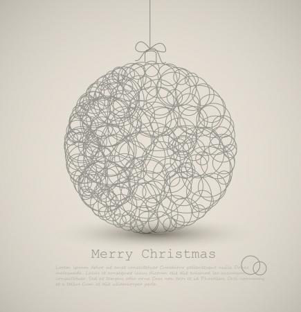 navidad elegante: Vector tarjeta moderno con decoraci�n de navidad abstracto sobre un fondo claro Vectores