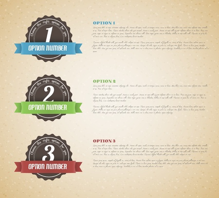 Vector options background  product choice or versions Vector