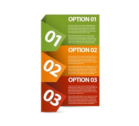 Vector Paper Fortschritt Hintergrund / Produktwahl oder Versionen