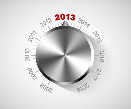 Vector 2012 New Year card with chrome knob Stock Vector - 14847076