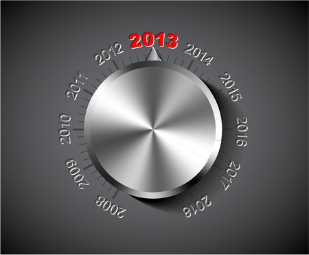 2012 New Year card with chrome knob Vector