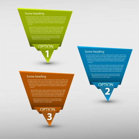 compare: Paper Progress background  product choice or versions Illustration