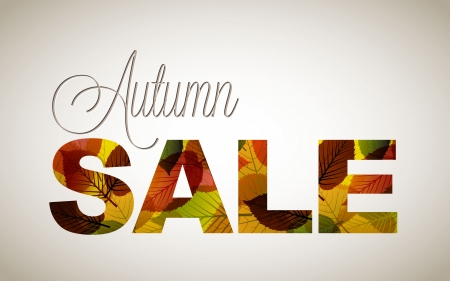 fall sale poster  illustration with colorful leafs