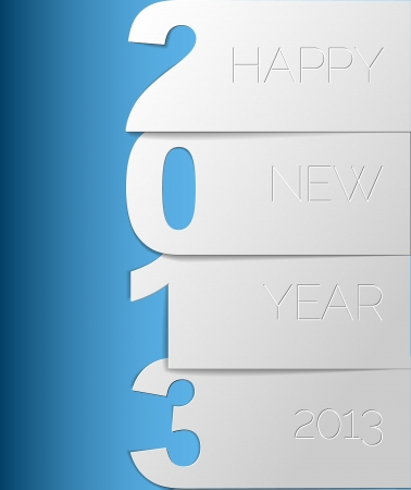 Blue and white Happy New Year 2013 Stock Vector - 15553746