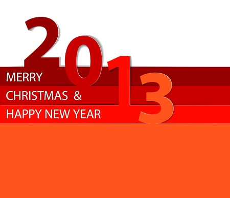 Red Happy New Year 2013 vector card Vector