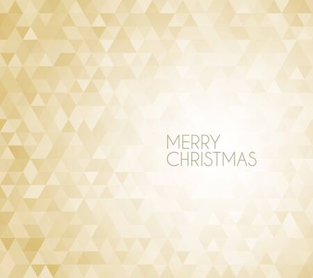 retro vector Christmas background made from golden triangles Stock Vector - 16493257