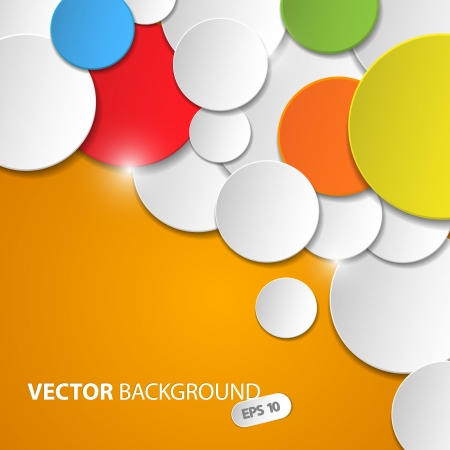 Vector abstract background with colorful circles and place for your text Vector