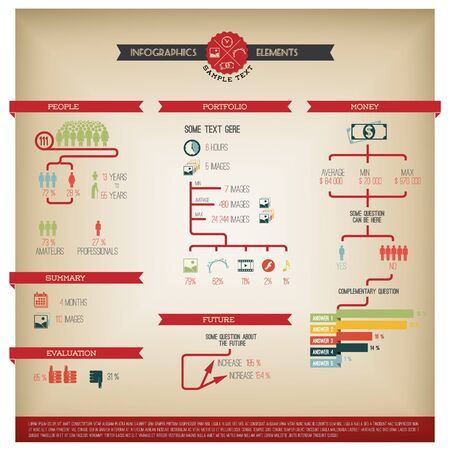 research paper: Big Vector set of Infographic elements for your documents and reports
