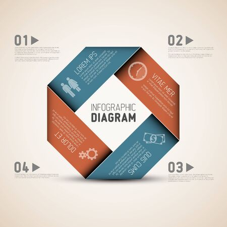 Vector Abstract shape with Infographic elements Stock Vector - 19108305