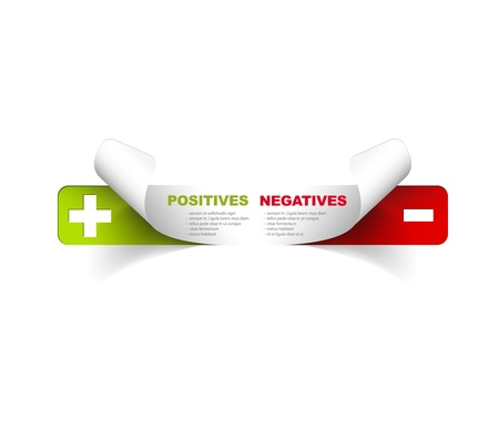 comparisons: Vector template for positives and negatives Illustration